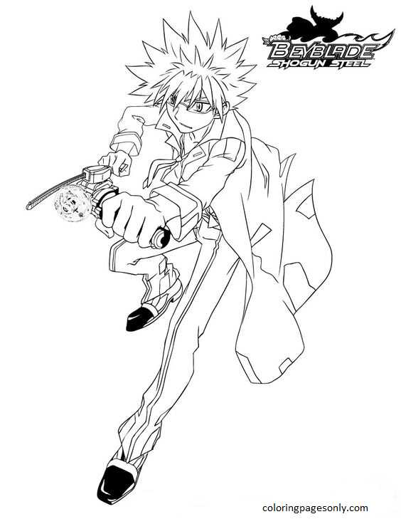 Beyblade Burst 31 Coloring Page