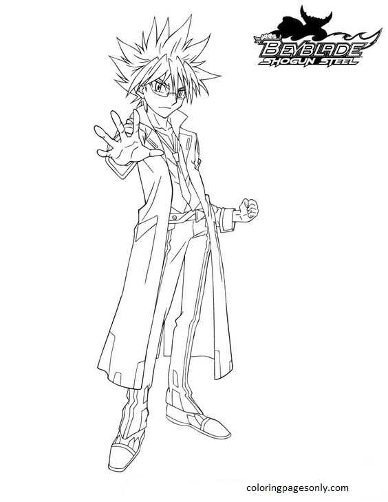 Beyblade Burst 32 Coloring Page