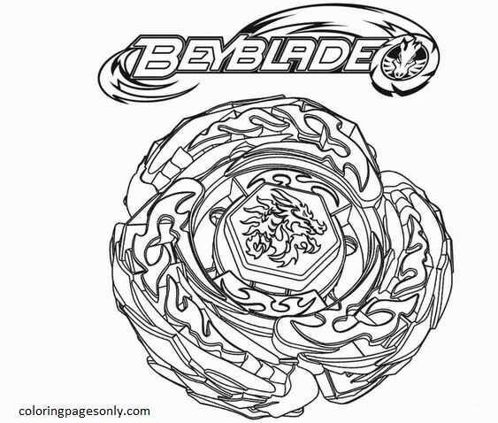 Beyblade Burst 34 Coloring Page