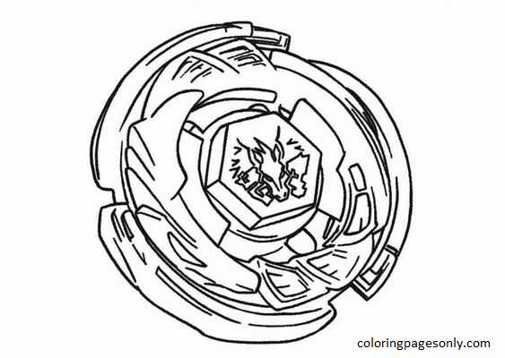 Beyblade Burst 35 Coloring Page