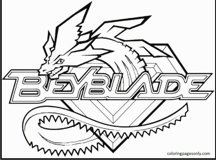 Beyblade Burst 36 Coloring Page