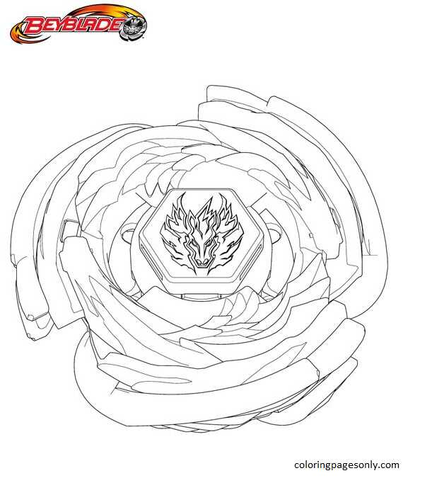 Beyblade Burst 37 Coloring Page
