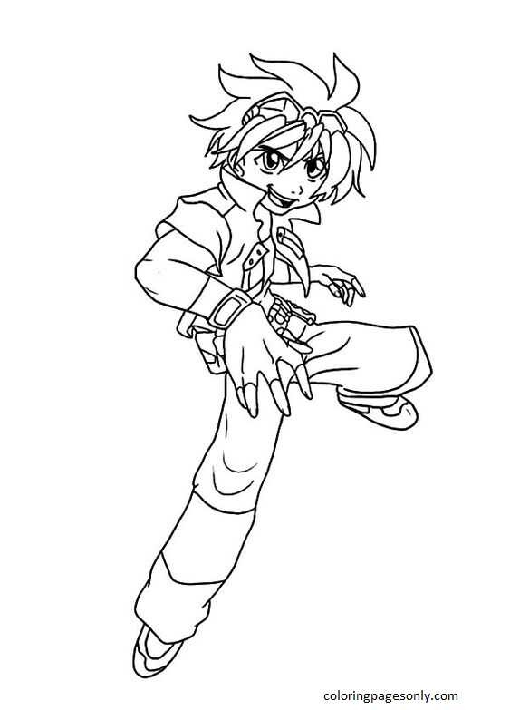 Beyblade Burst 38 Coloring Page