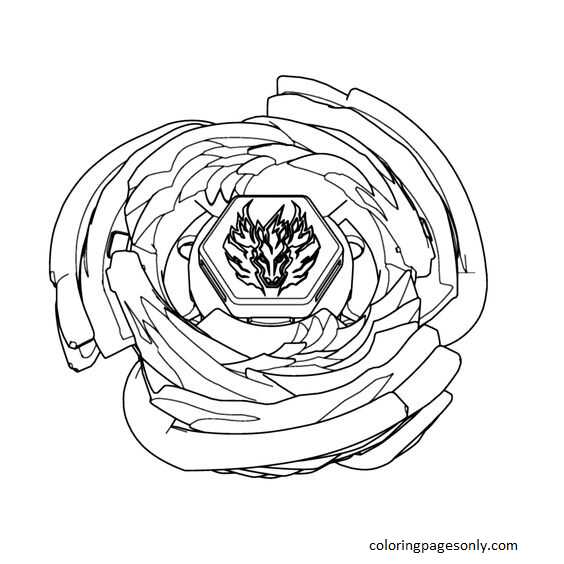 Beyblade Burst 39 Coloring Page