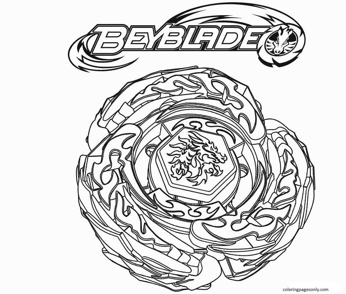 Beyblade Burst 3 Coloring Page