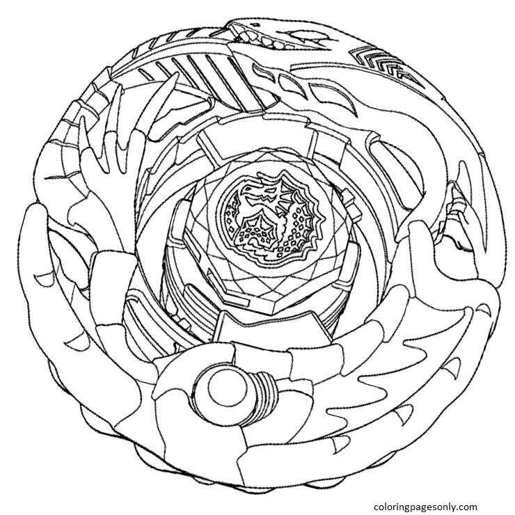 Beyblade Burst 4 Coloring Page