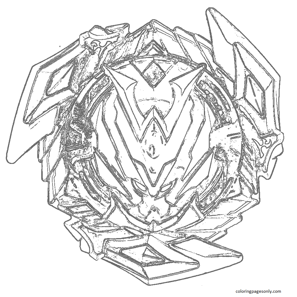 Beyblade Burst 5 Coloring Page