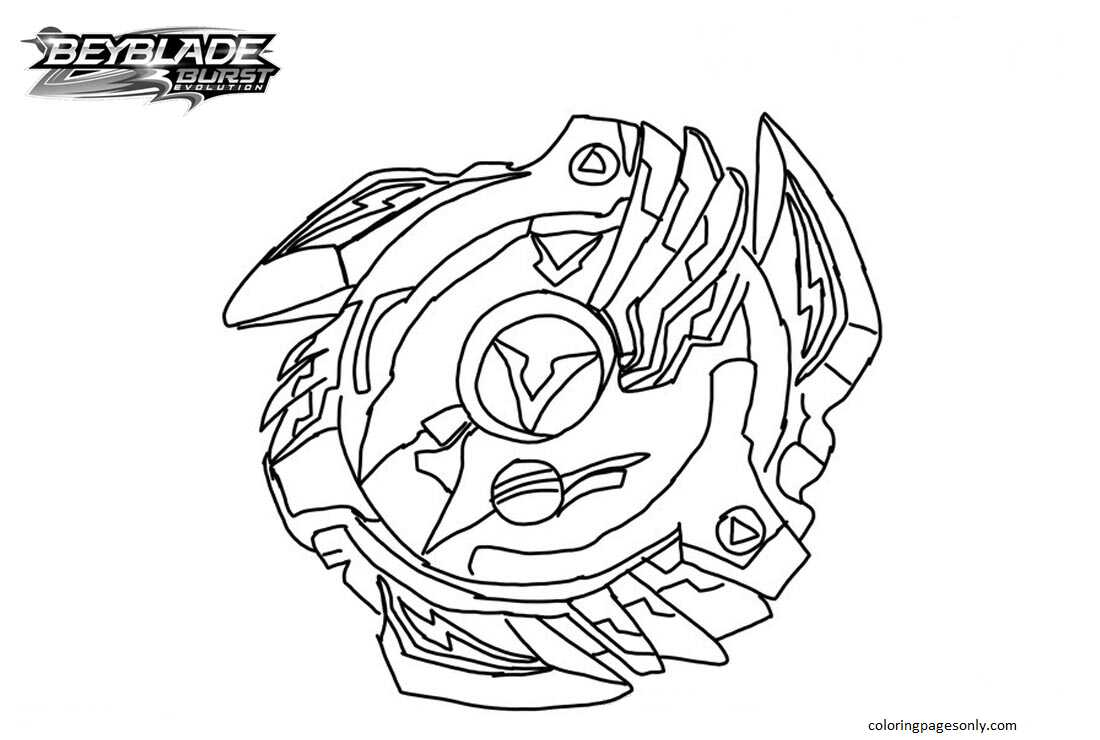 Beyblade Burst 6 Coloring Page