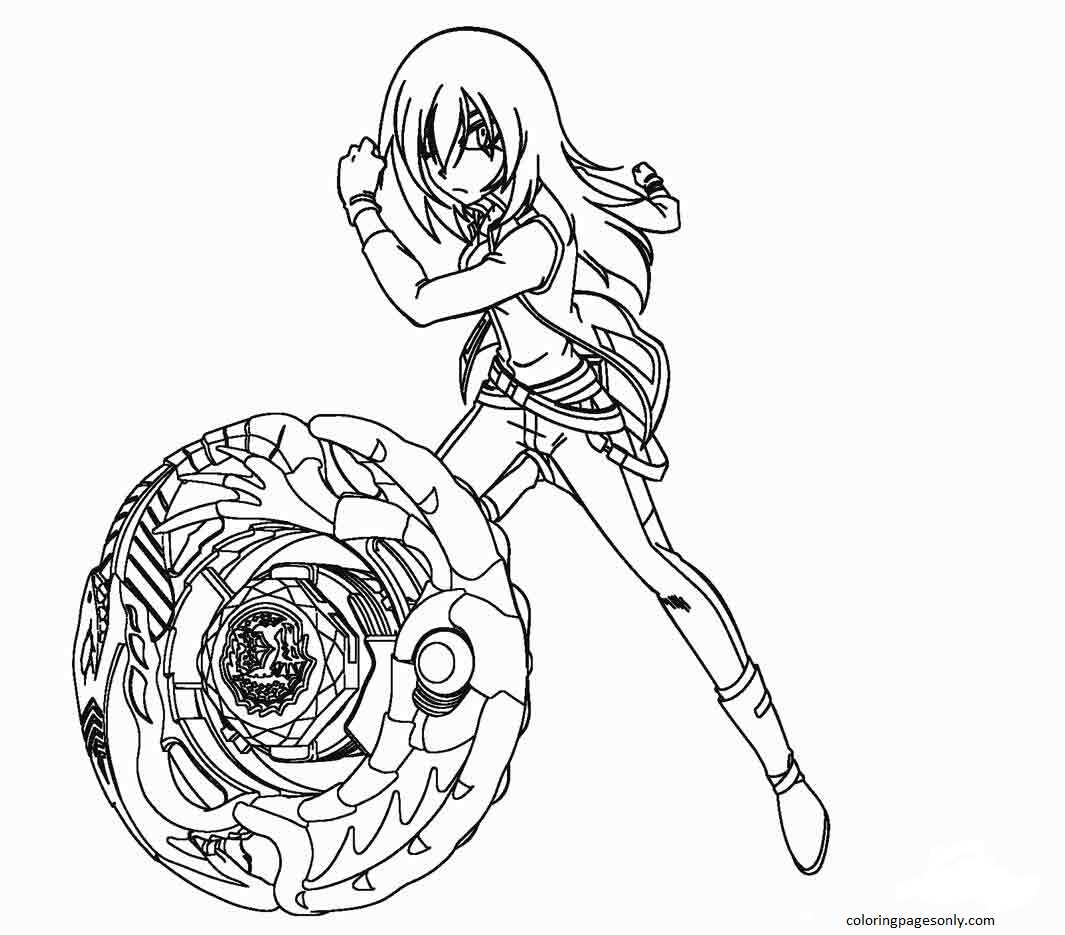 Beyblade Burst 8 Coloring Page