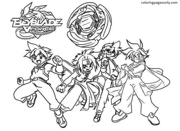 Beyblade Burst Coloring Pages Spryzen Coloring Page