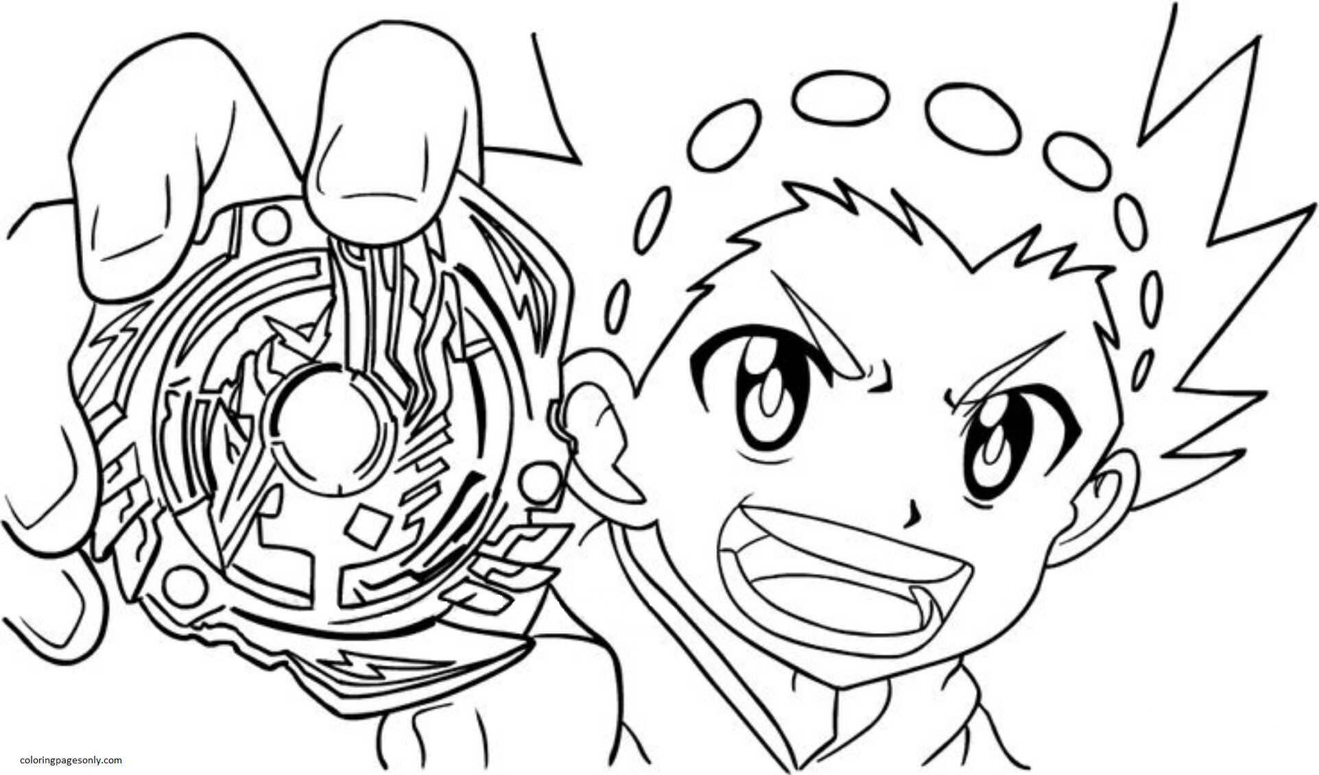Beyblade Burst Coloring Pages Valtryek Coloring Page