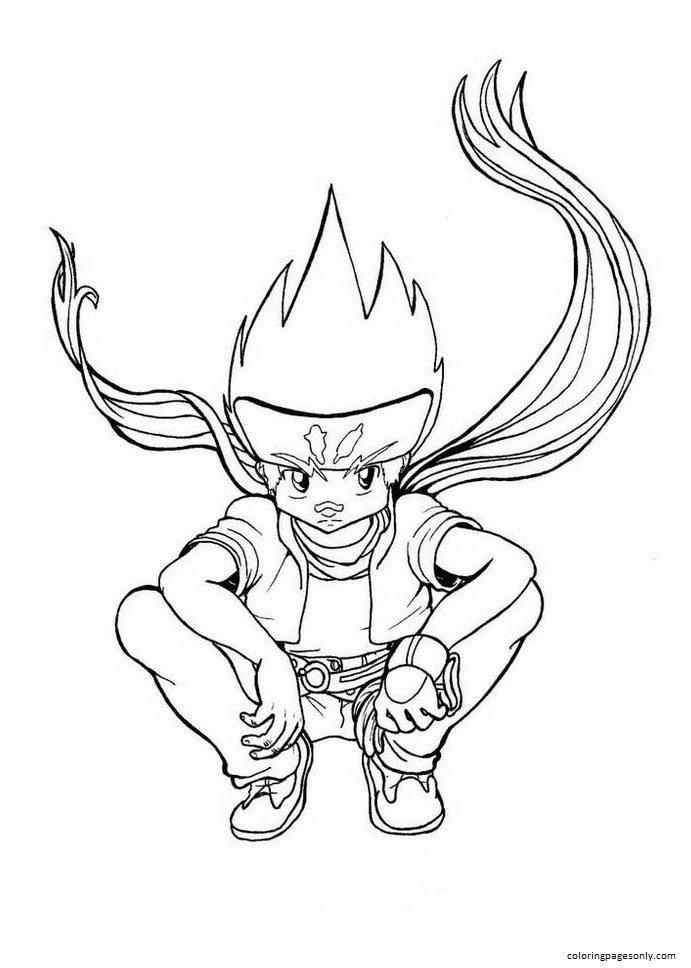 Beyblade Colowater Sky Coloring Page