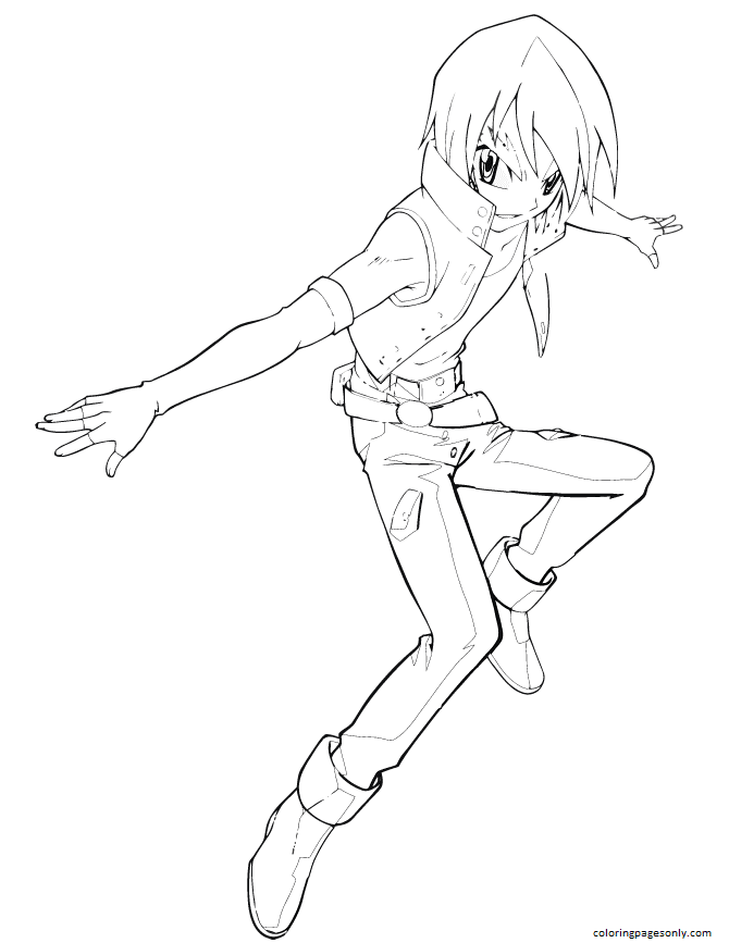 Beyblade Fusion Coloring Page