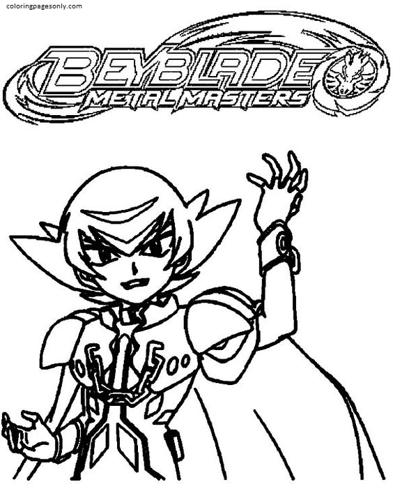 Beyblade Lion Coloring Page