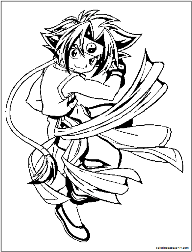 Beyblade Pictures Coloring Page