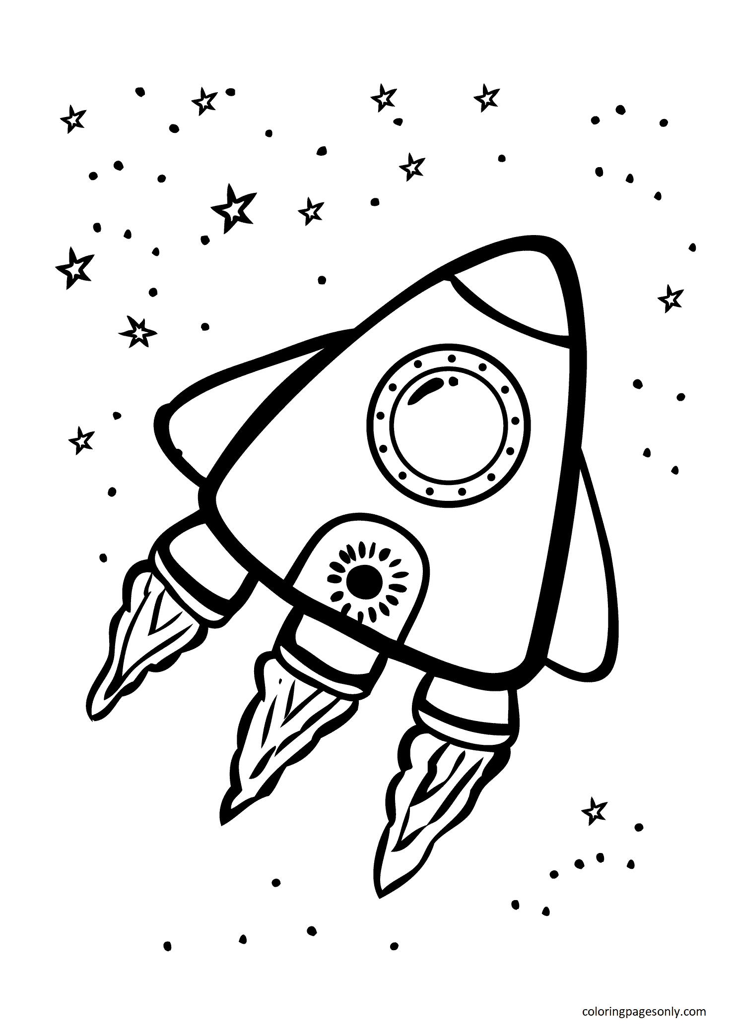 Brave Rocket Coloring Page