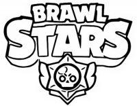 Brawl Stars Logo Coloring Page