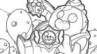 Spike uses a field of cactus spines in Brawl Stars Coloring Page