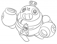 Brawl Stars Tick detaches and launches his head Coloring Page