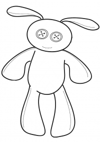 Button eyes bunny toy for baby Coloring Page