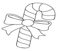 Candy Cane of Christmas Coloring Page