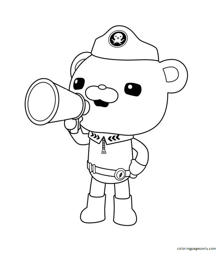 Capt. Barnacles Announcement Coloring Page