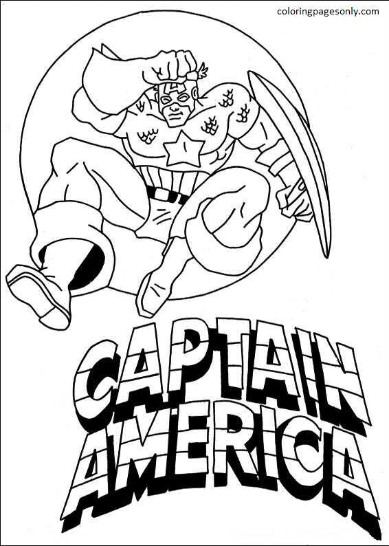 Captain America 24 Coloring Page
