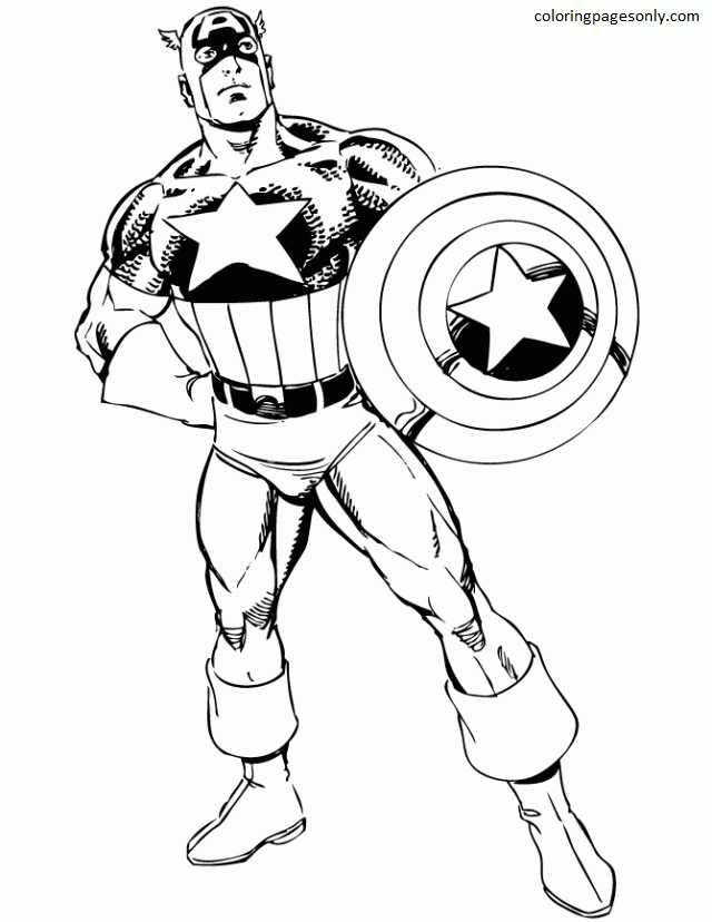 Captain America 29 Coloring Page