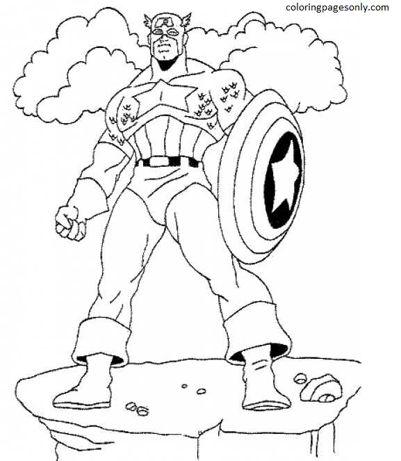 Captain America 2 Coloring Page