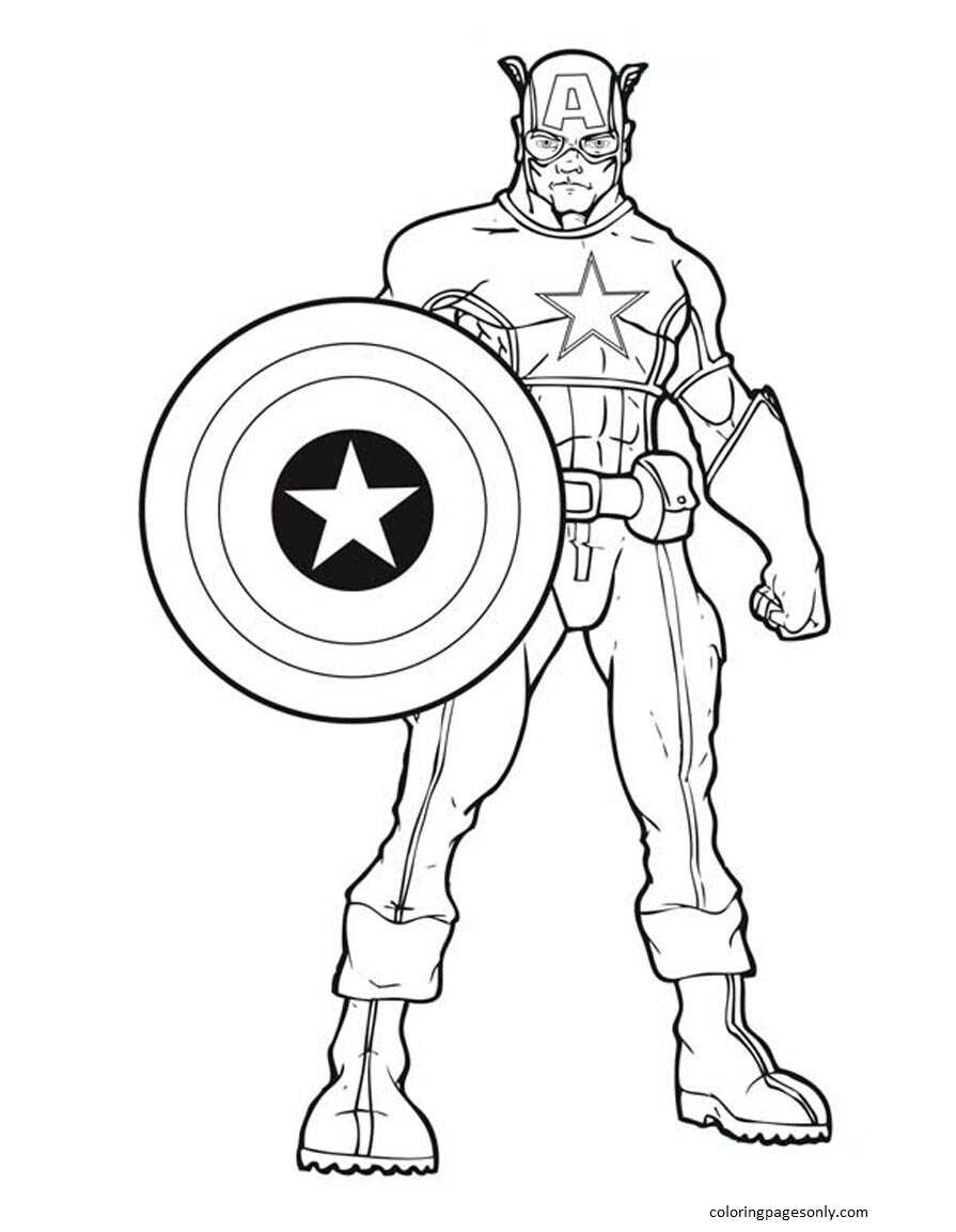 Captain America 3 Coloring Page