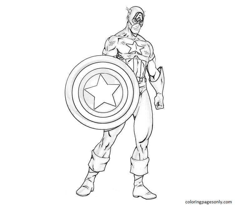 Captain America 8 Coloring Page