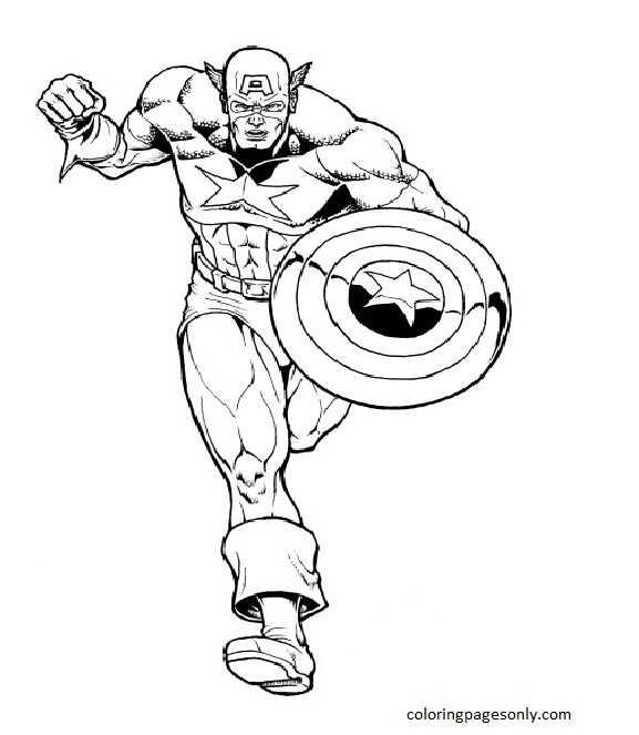 Captain America Shield 1 Coloring Page