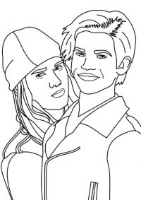 Carlos De Vil and punkish Jay from Descendants Coloring Page