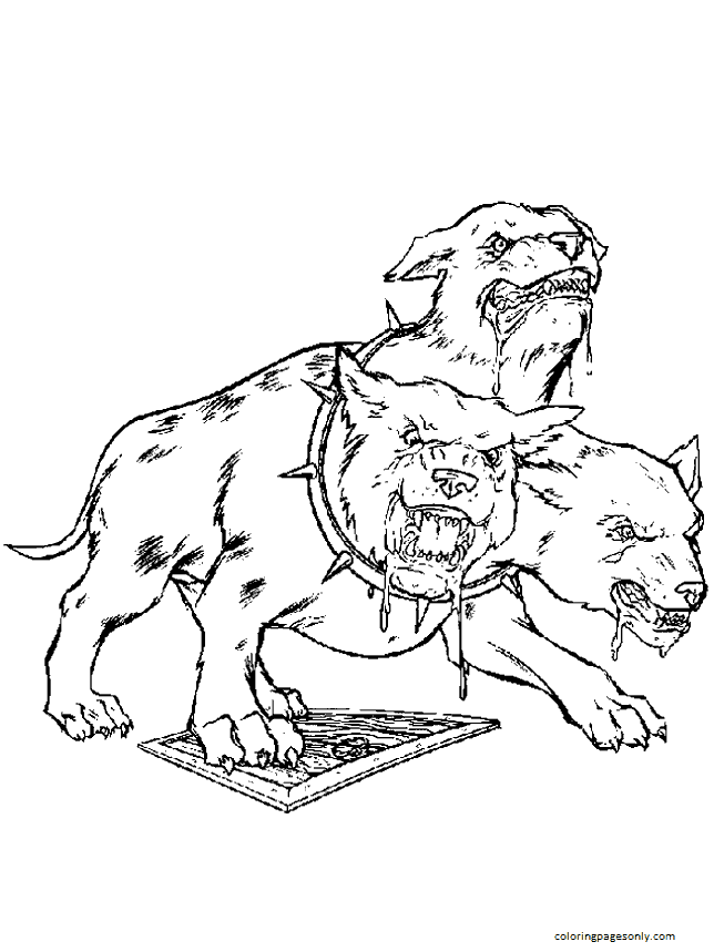 Cartoon Harry Potter Coloring Page