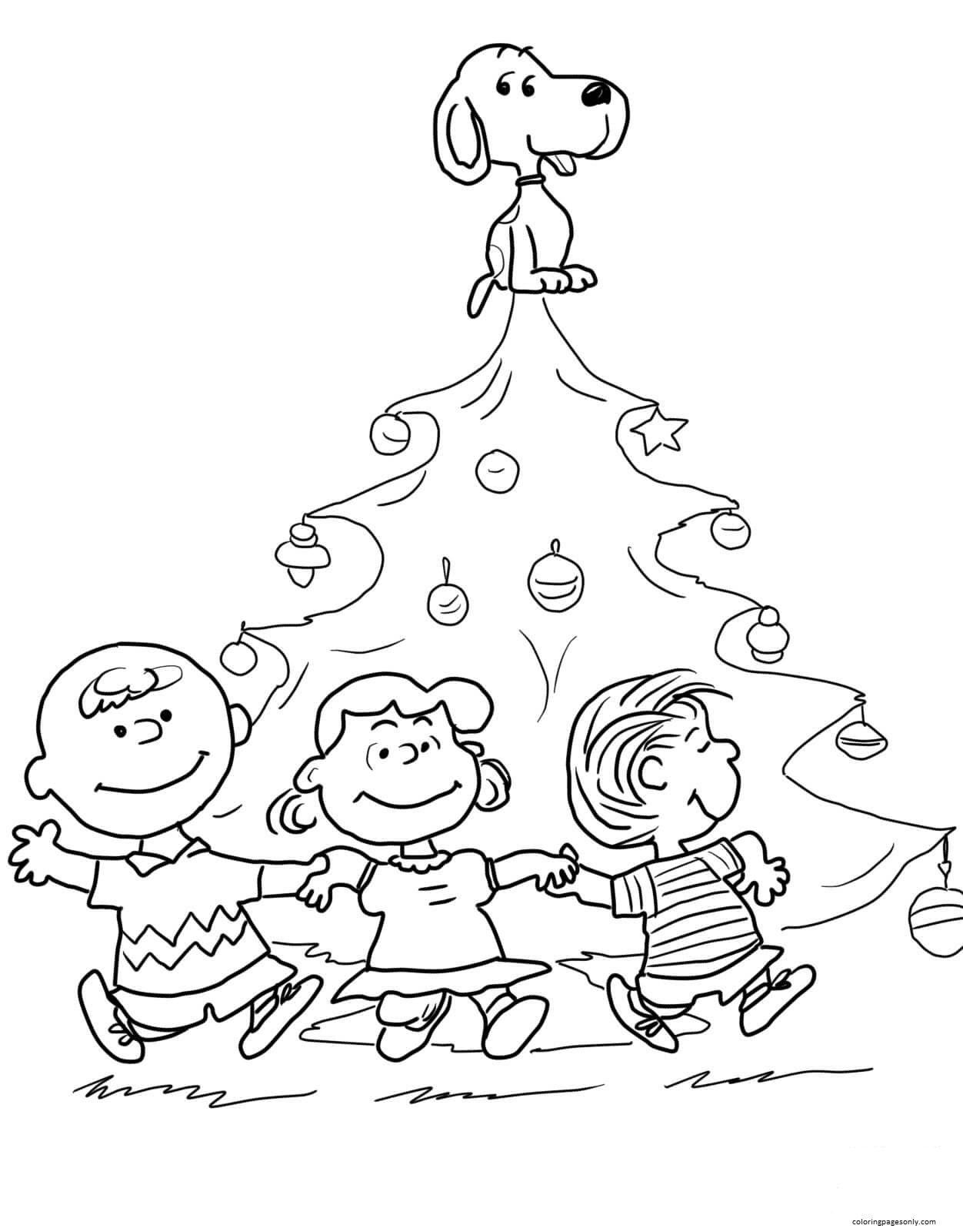 Charlie Brown Christmas Tree 1 Coloring Page