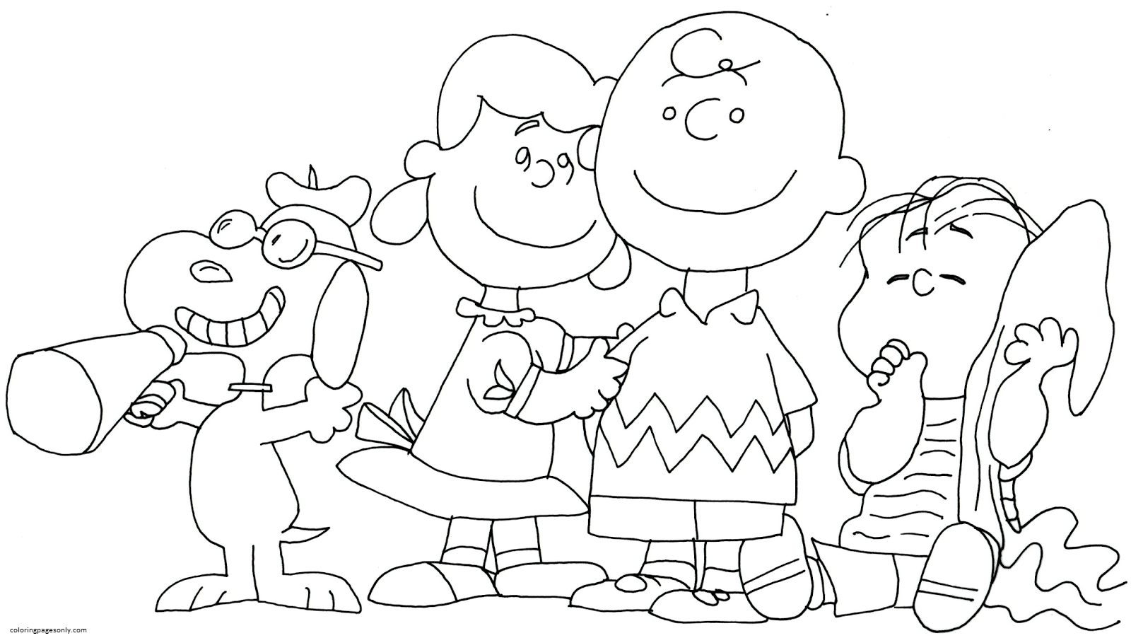 Charlie Brown Snoopy And Peanuts 1 Coloring Page