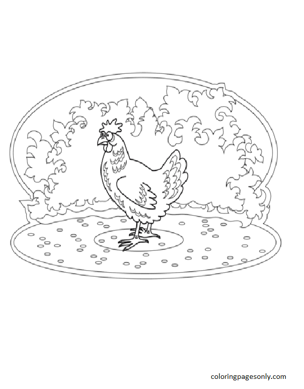 Chicken 1 Coloring Page