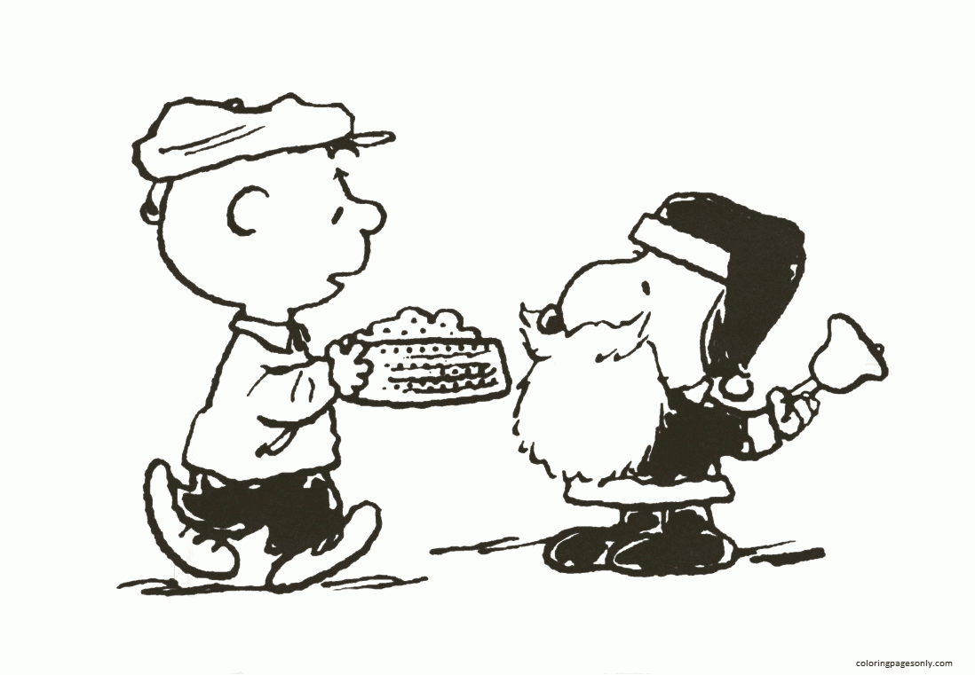 Christmas Snoopy 1 Coloring Page