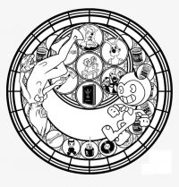 Circle of habit and relationship of Bendy in Bendy and the Ink Machine Coloring Page