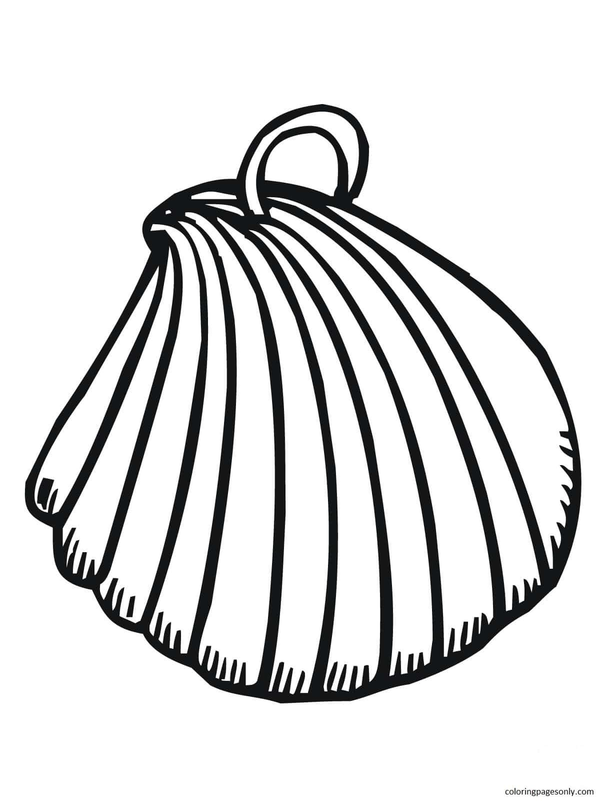 Clam Shell Earring Coloring Page