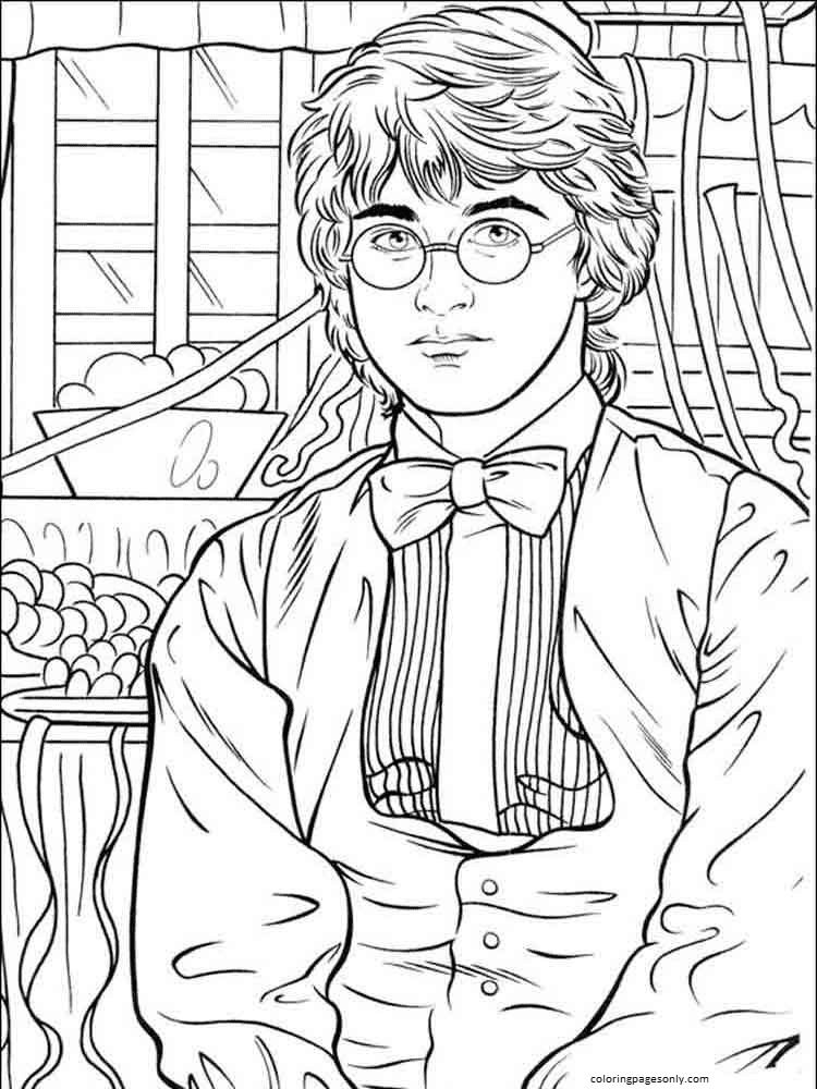 Cold Harry Potter Coloring Page