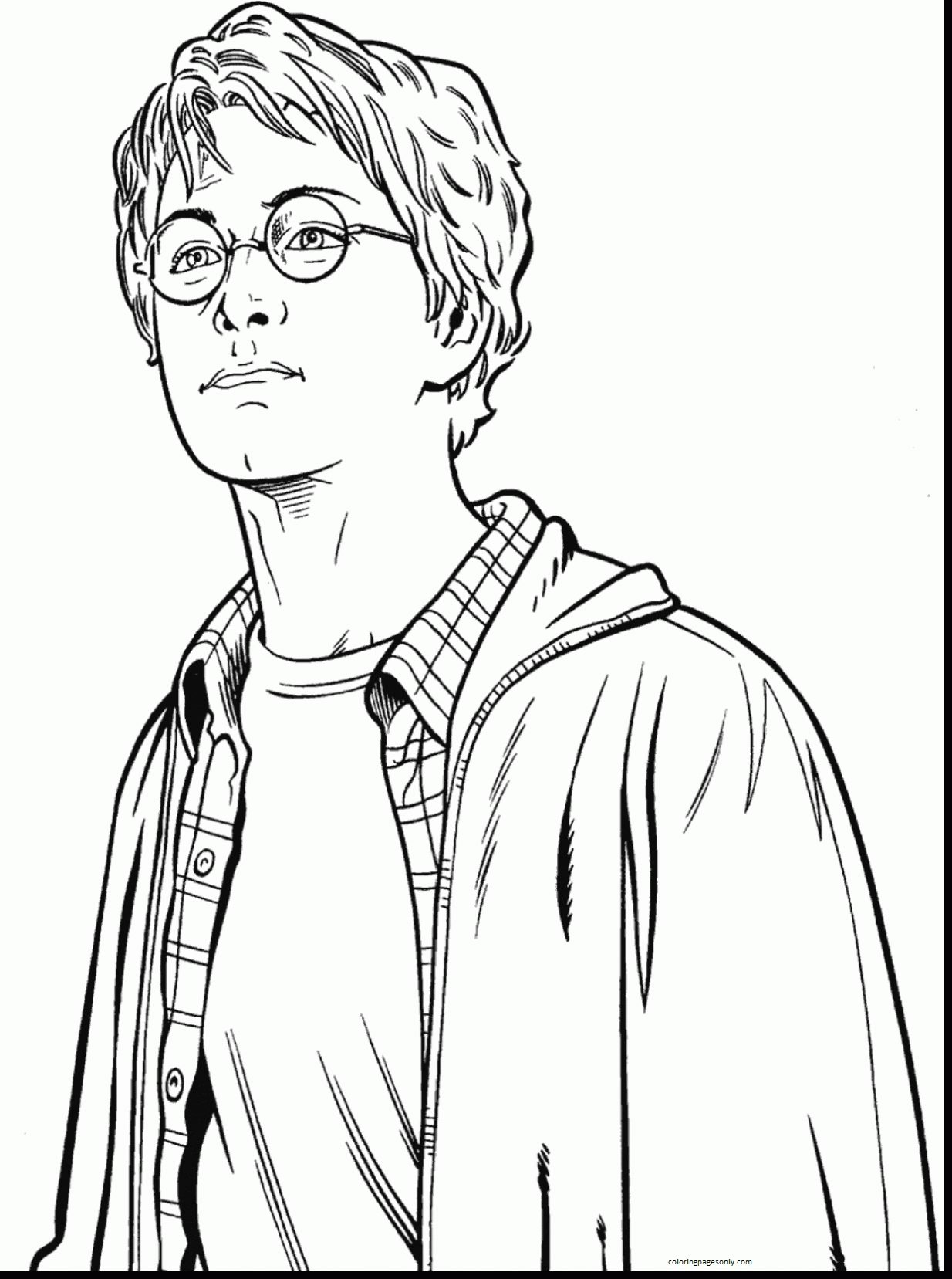 Cool Harry Potter Coloring Page