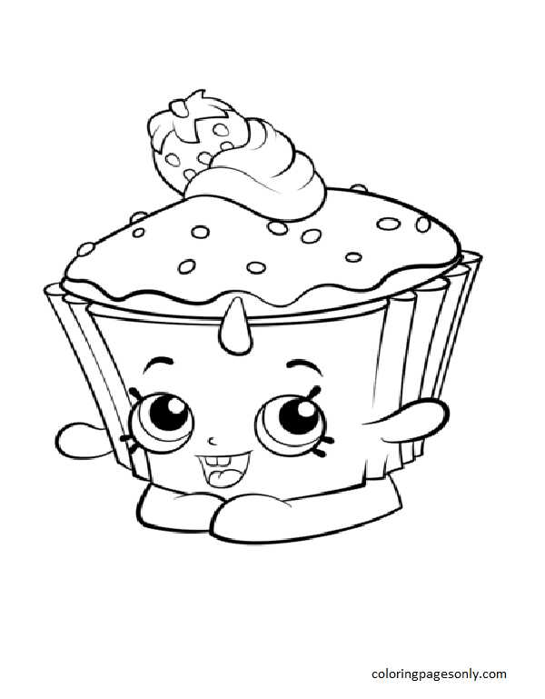 Cupcake Chic Shopkin Coloring Page