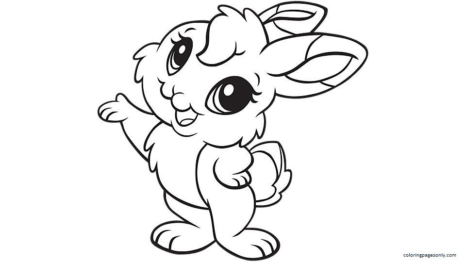 Cute Bunny 2 Coloring Page