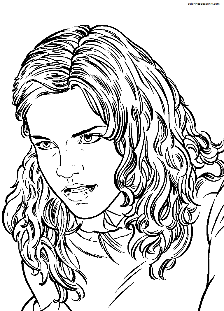 Cute Hermione Coloring Page