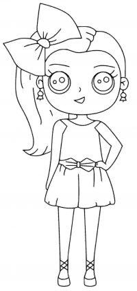 Cute little dancer Jojo Siwa Coloring Page