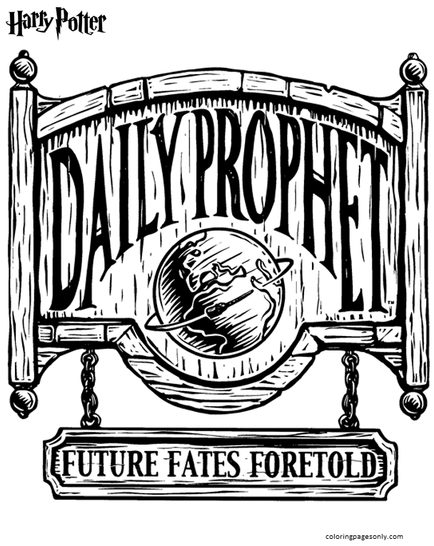 Daily Prophet Coloring Page