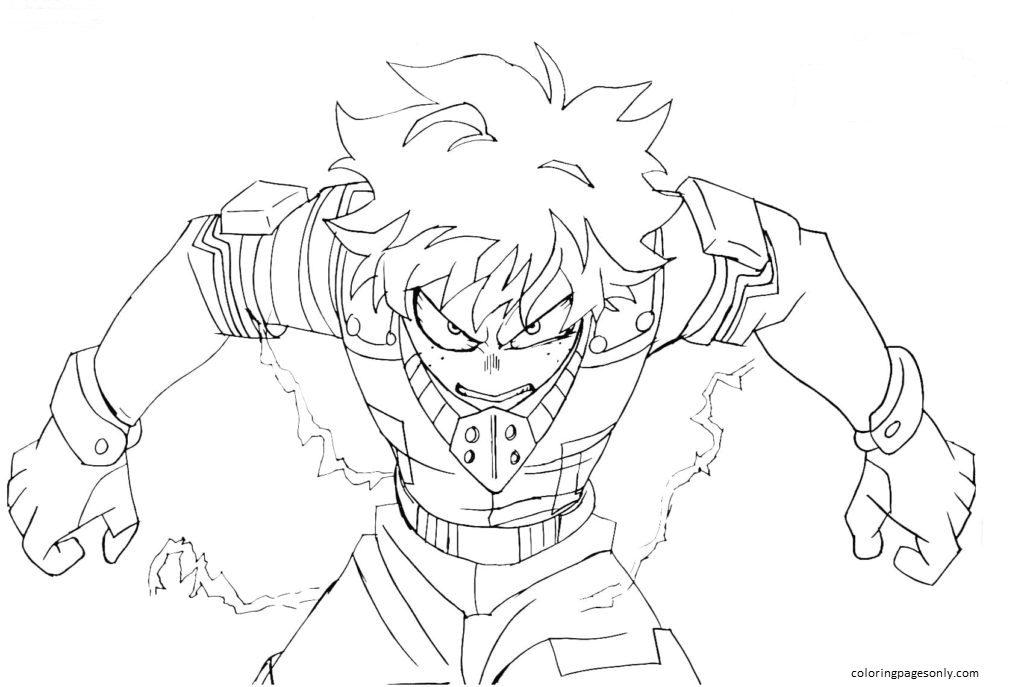 Deku My Hero Academia Coloring Page