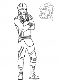 Jay joins the tourney team from Descendants Coloring Page