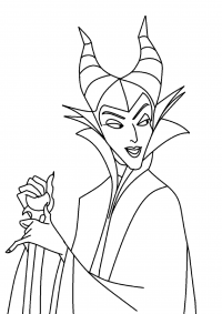 The most dangerous and feared villain Maleficent from Descendants Coloring Page